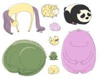Animales el dormir fijados ilustración del vector