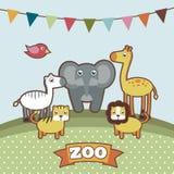 Animales en el parque zoológico Fotos de archivo libres de regalías