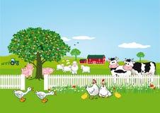 Animales en la granja stock de ilustración