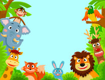 Animales felices libre illustration