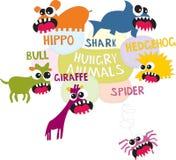 Animales hambrientos libre illustration