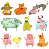 Animales lindos stock de ilustración