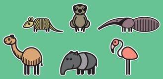 Animales lindos fijados - ejemplo Imagenes de archivo