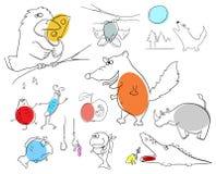 Animales locos Imagenes de archivo