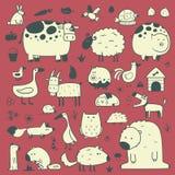 Animales nacionales y del bosque libre illustration
