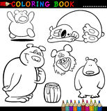 Animales para el libro o la paginación de colorante Foto de archivo libre de regalías