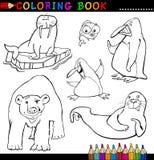 Animales para el libro o la paginación de colorante Fotos de archivo