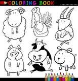 Animales para el libro o la paginación de colorante Fotografía de archivo