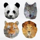 Animales poligonales abstractos del vector Imagen de archivo libre de regalías
