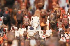 Animales que hicieron la estatua para adorar el divino Foto de archivo libre de regalías