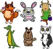 Animales ridículos ilustración del vector