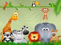 Animales salvajes stock de ilustración
