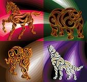 Animales salvajes abstractos stock de ilustración
