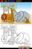 Animales salvajes del safari para el colorante libre illustration