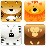 Animales salvajes - el icono fijó 2 Foto de archivo libre de regalías