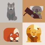 Animales salvajes fijados Fotografía de archivo libre de regalías