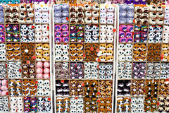 Animales suaves del juguete en tienda del ` s de los niños Fotografía de archivo libre de regalías