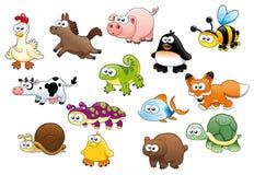 Animales y animales domésticos de la historieta Fotos de archivo