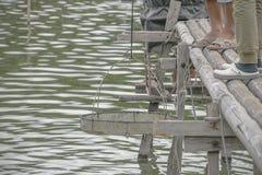 Animali acquatici Agricoltura del calcestruzzo del gamberetto Immagini Stock Libere da Diritti