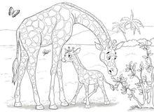 Animali africani Coccodrilli svegli Illustrazione per i bambini fotografia stock