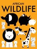 Animali africani /illustration Fotografie Stock Libere da Diritti