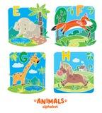 Animali alfabeto o ABC Fotografie Stock