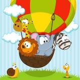 Animali che viaggiano dal pallone Fotografie Stock Libere da Diritti