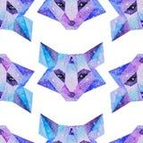 Animali cosmici dell'acquerello Illustrazione disegnata a mano Fotografie Stock Libere da Diritti