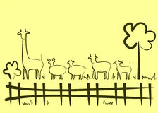 Animali da allevamento dei Artiodactyls Fotografia Stock Libera da Diritti