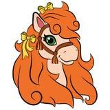 Animali da allevamento del fumetto per i bambini Piccolo cavallino sveglio Fotografie Stock Libere da Diritti