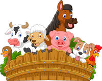 Animali da allevamento della raccolta del fumetto Immagine Stock