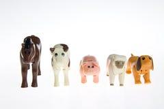 Animali da allevamento di plastica del giocattolo Fotografia Stock Libera da Diritti