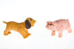 Animali da allevamento di plastica del giocattolo Fotografia Stock