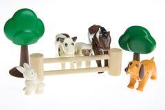 Animali da allevamento di plastica del giocattolo Immagini Stock Libere da Diritti