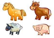 Animali del coltivatore Fotografia Stock Libera da Diritti