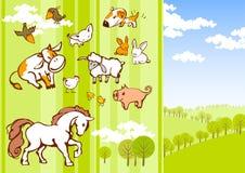 Animali del fumetto Fotografia Stock