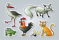 Animali del fumetto Fotografie Stock Libere da Diritti
