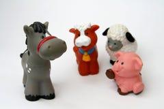 Animali del giocattolo Fotografie Stock Libere da Diritti