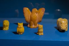 Animali del totem ambrato immagine stock libera da diritti