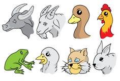 Animali della campagna e dell'azienda agricola illustrazione di stock