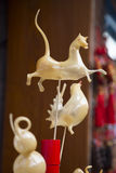 Animali della caramella soffiati syrp dello zucchero a Pechino Fotografie Stock