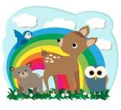 Animali della foresta Fotografia Stock