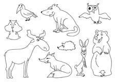 Animali della foresta Immagini Stock Libere da Diritti