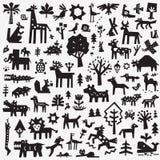 Animali della foresta - insieme dell'icona, elementi di progettazione di vettore Illustrazione di Stock