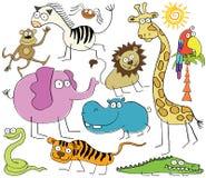 Animali della giungla Immagine Stock Libera da Diritti