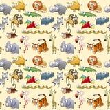Animali della savana con fondo Fotografia Stock Libera da Diritti