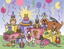 Animali di partito illustrazione vettoriale
