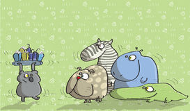 Animali divertendosi No.14 Fotografie Stock Libere da Diritti