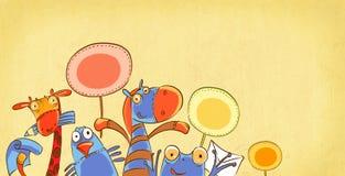 Animali divertenti royalty illustrazione gratis