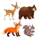 Animali divertenti del legno illustrazione vettoriale